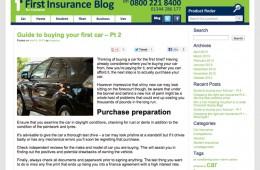First Insurance Blog