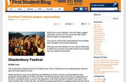 First Student Blog