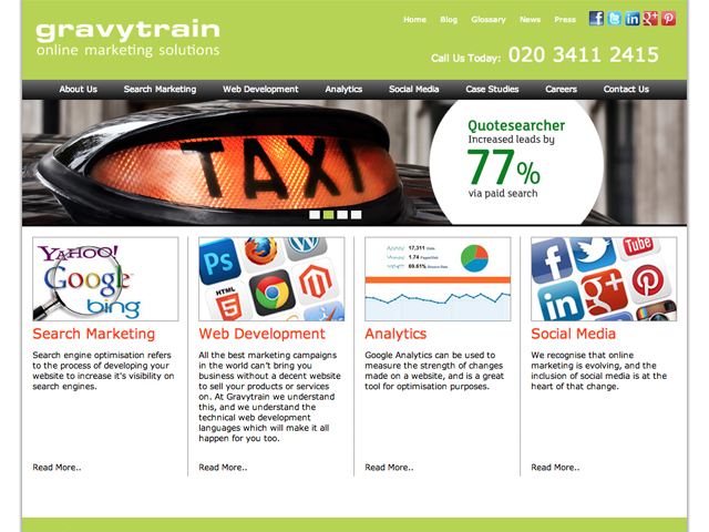 Gravytrain - Wordpress Development