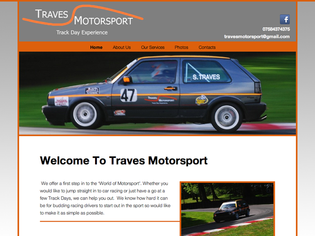 Traves Motorsport - Wordpress Development